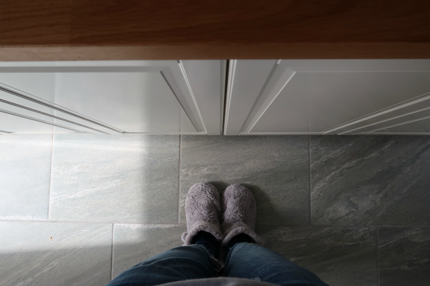 grey kitchen floor