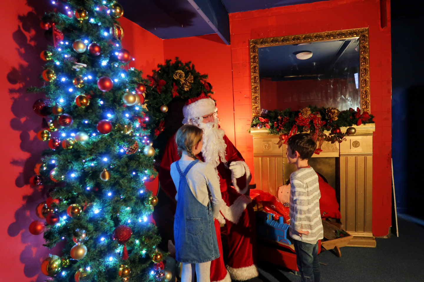 Lewis' Grotto with Santa