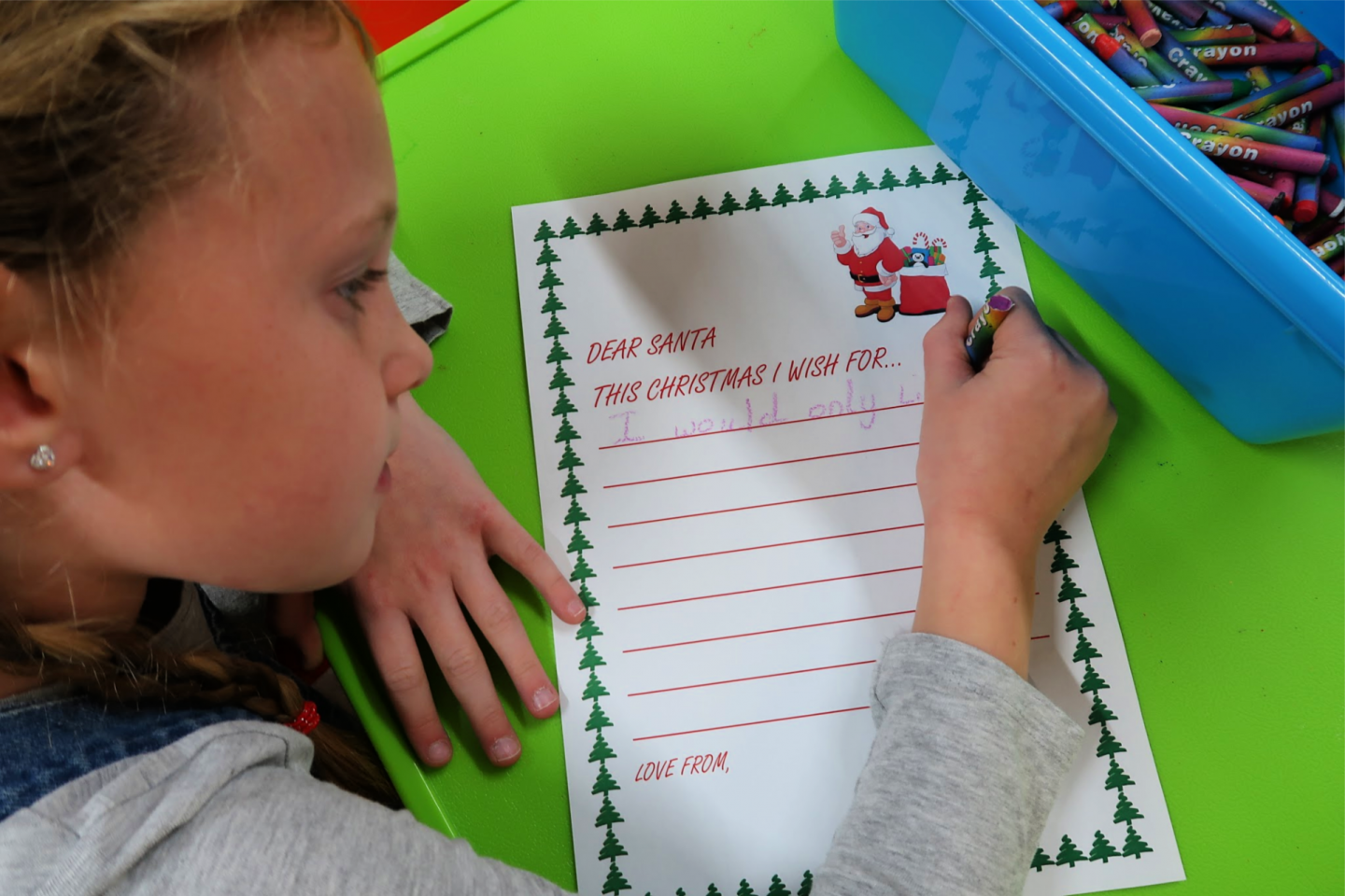 Writing letter to Santa Liverpool's Oldest Grotto