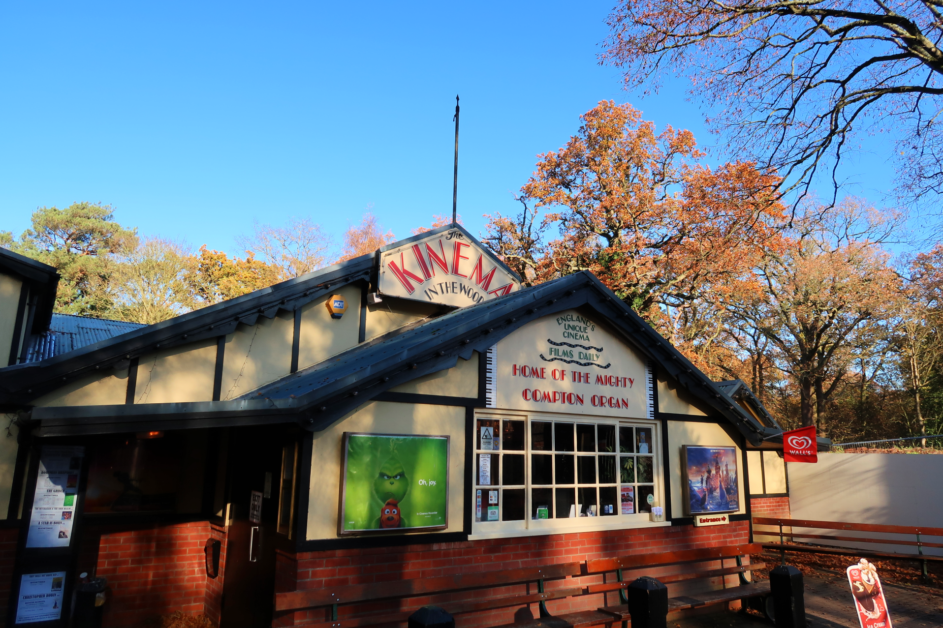 Kinema in the Woods outside