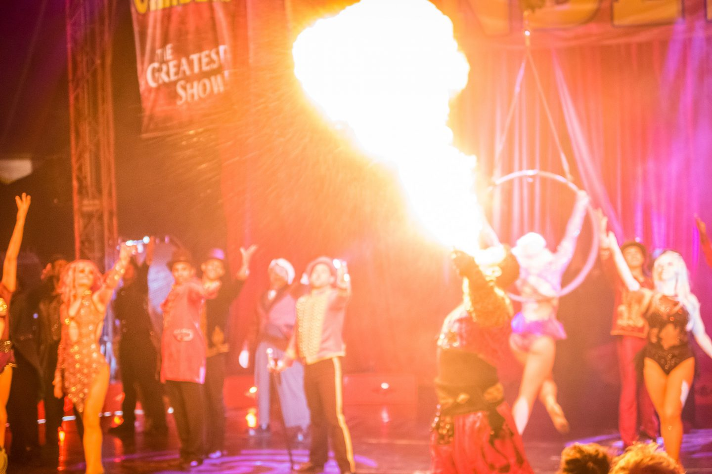 fire breathing gandeys circus liverpool