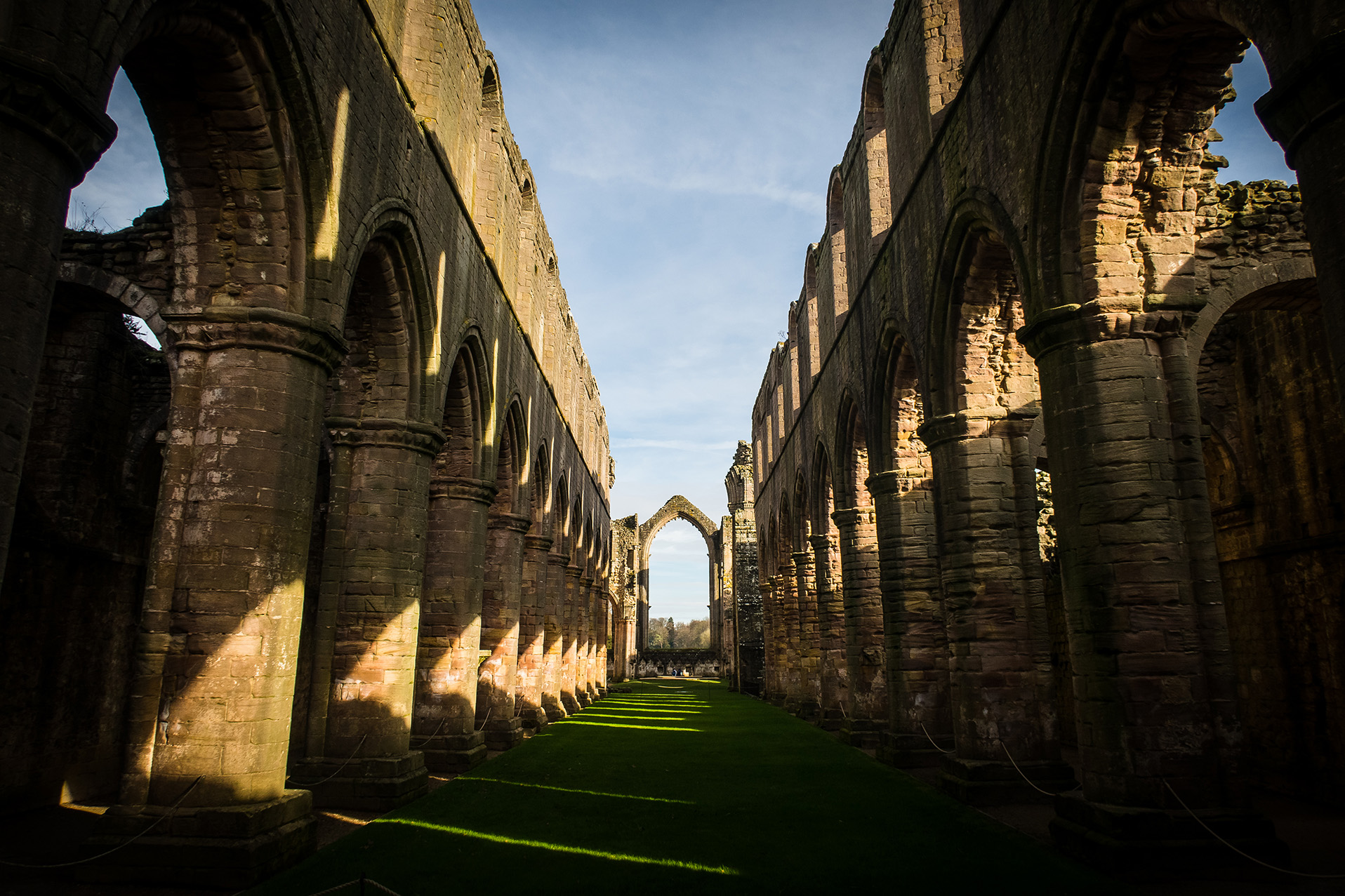 arches fountains abbey yorkshire