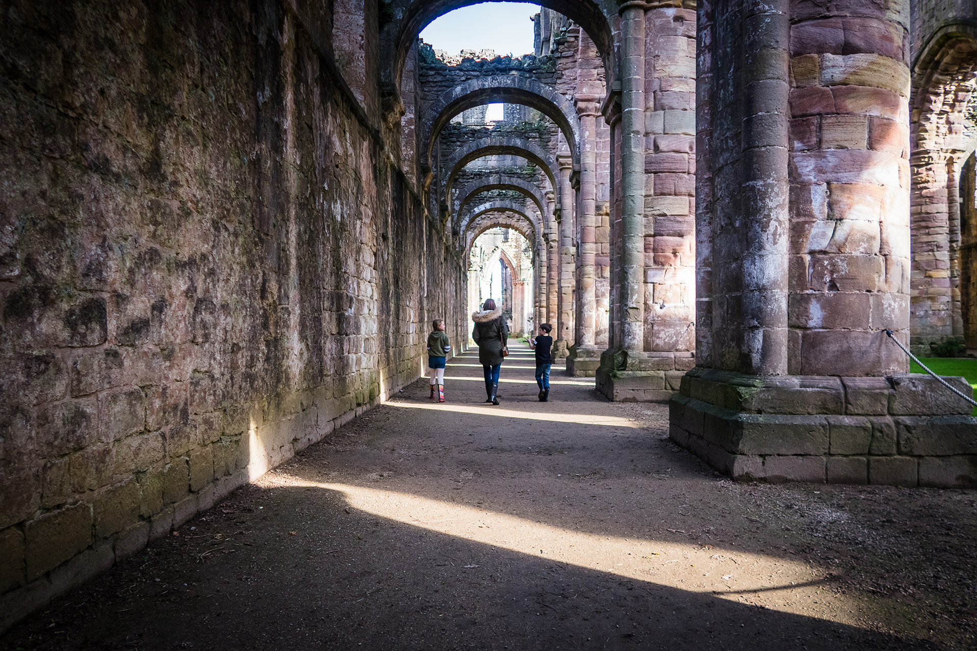 arches at Fountains Abbey, Yorkshire
