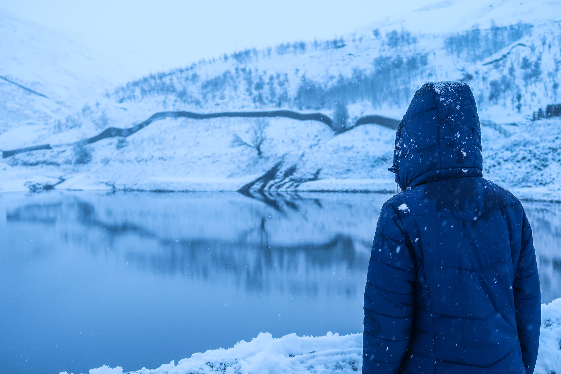 ogden reservoir in snow